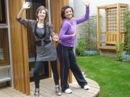 Rosie and Natalie at Maggies Centres, Cheltenham